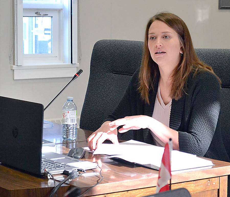 <p>GAYLE WILSON PHOTO</p><p>Maria Butts, MODL's straight pipe replacement program coordinator, gave an update to council on the number homes that are being enlisted into the project as well as those that have no need to sign up.</p>