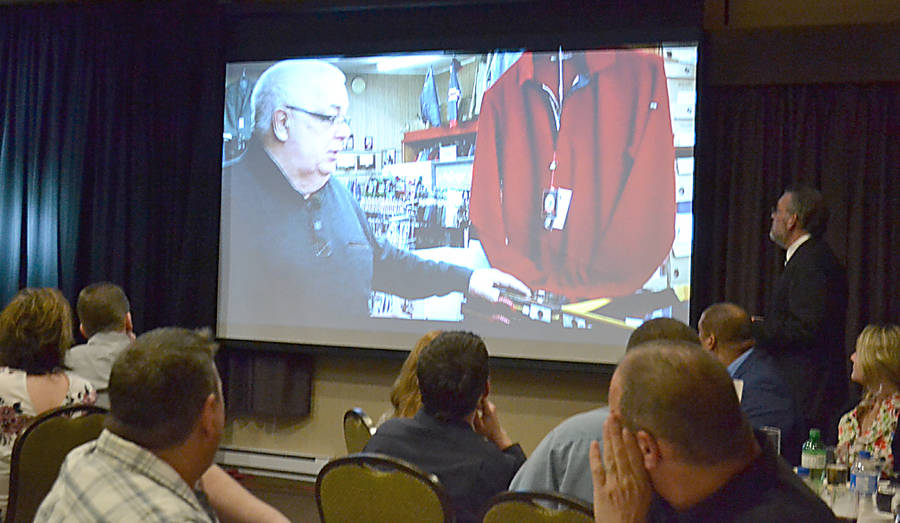 <p>GAYLE WILSON PHOTO</p><p>The audience at the Lunenburg Queens Business Excellence Awards watch a short video presentation about Stan's Dad & Lad, which was the winner in the Small Business category.</p>