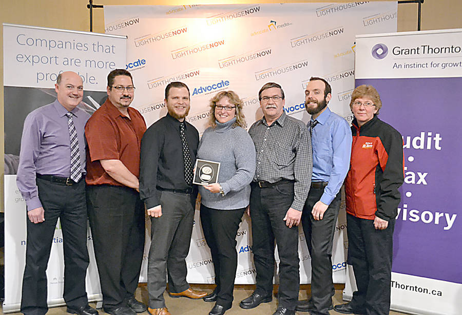 <p>GAYLE WILSON PHOTO</p><p>Bridgewater's Gow's Home Hardware won the Large Business award. Shown here, left to right, are Kevin Dolliver, Linwood Rice, Richard Cockayne, Amanda Fancy, Randy Eisnor, Jake Himmelman and Sheri Varner.</p>