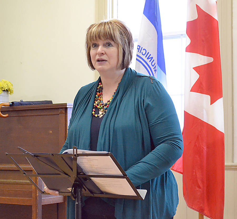 "<p>GAYLE WILSON PHOTO</p><p>The MLA for Lunenburg Suzanne Lohnes-Croft urged residents who are signed up for the straight pipe replacement program to ""spread the word"" to their neighbours.</p>"