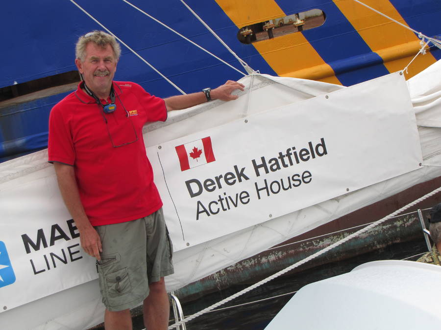 <p>FILE PHOTO</p><p>Derek Hatfield became the 126th person to complete an around-the-world sailing race on his own in 2003, and was the first Canadian to do so twice.</p>