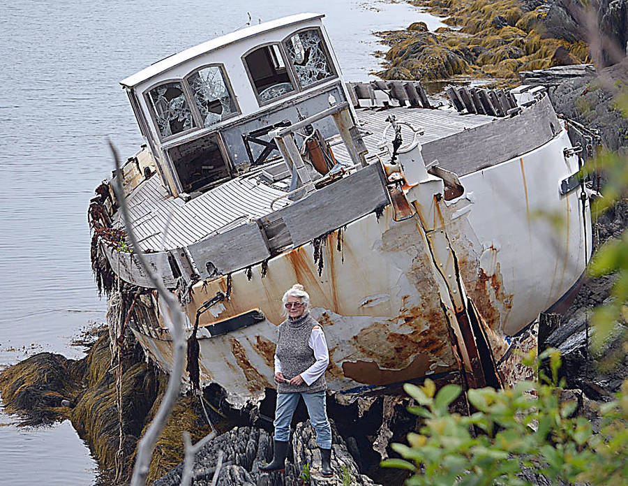 <p>FILE PHOTO</p><p>Feltzen South resident Judith Atkinson has been pushing for years to have the boat abandoned on her property, removed.</p>
