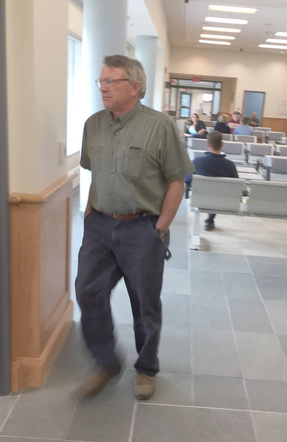 <p>KEITH CORCORAN PHOTO</p><p>Bill Flower at the Bridgewater Justice Centre on May 28.</p>