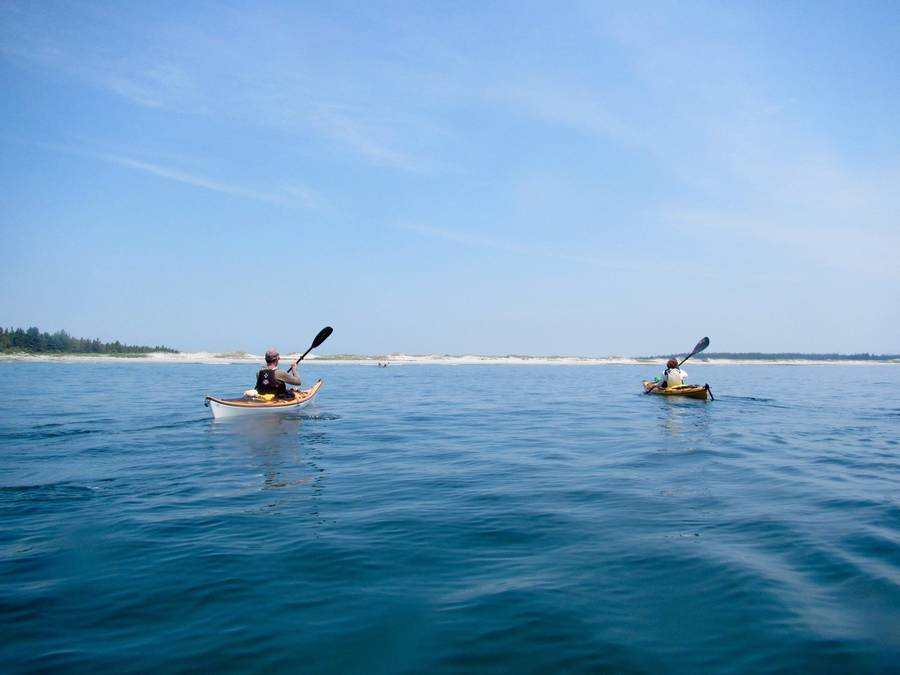 <p>Photo courtesy of Cape LaHave Adventures</p><p>Kayakers paddle off of Nova Scotia's South Shore.</p>