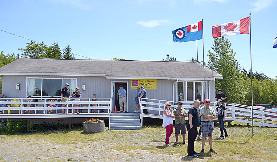 <p>GAYLE WILSON PHOTO</p><p>All decked out. The South Shore Flying Club did a number of upgrades to the old terminal building at the South Shore Regional Airport, including replacing some windows, upgrading plumbing, replacing rotten siding and stairways and exterior painting.</p>