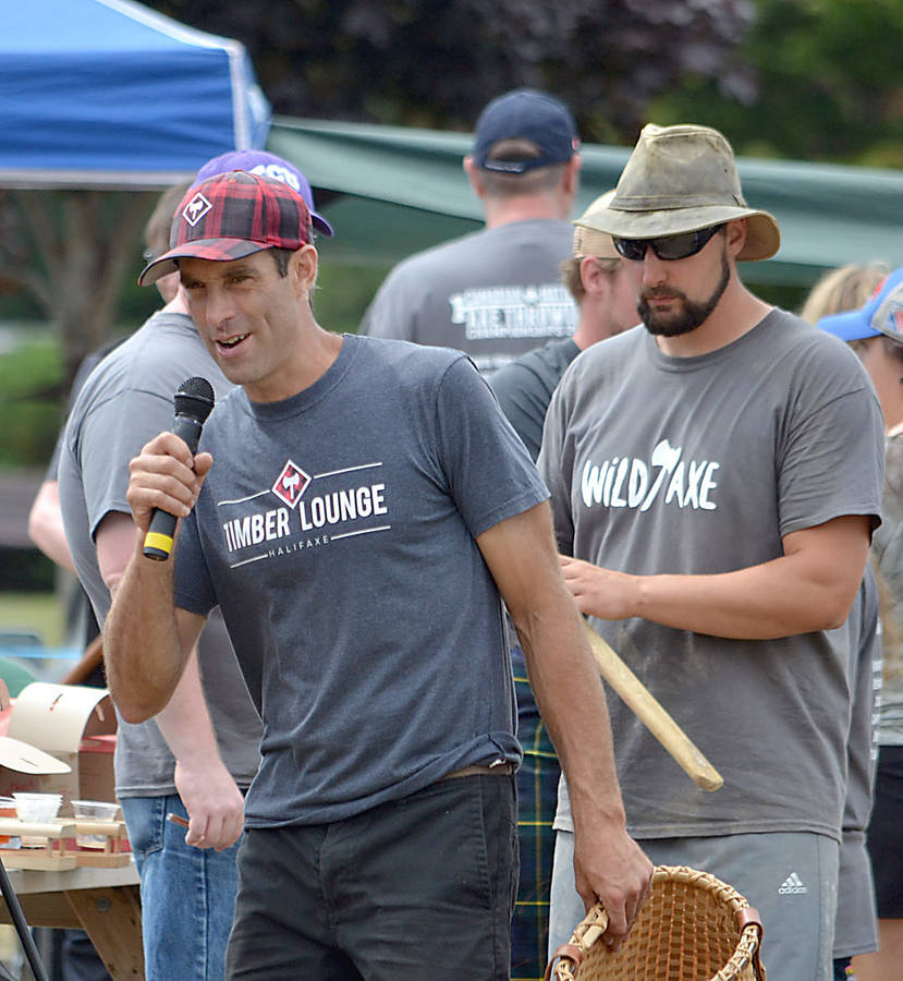 <p>GAYLE WILSON PHOTO</p><p>Darren Hudson (left), a World Champion log roller and 20-year lumberjack veteran from Barrington hosted the event he helped organize alongside Ryan McIntyre, president and founder of the North Nova Lumberjacks Society, who is seen on the right.</p>