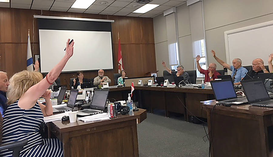 <p>GAYLE WILSON PHOTO</p><p>MODL councillors vote in favor of conducting first reading on proposed changes to the municipal planning strategy and sub-division by-law at their meeting August 28.</p>