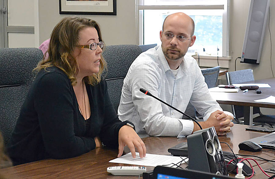 <p>GAYLE WILSON PHOTO</p><p>MODL communications officer, Sarah Kucharski and Upland Evan Tisdale address MODL on the consultation process surrounding the municipality's sub-division by-law review.</p>