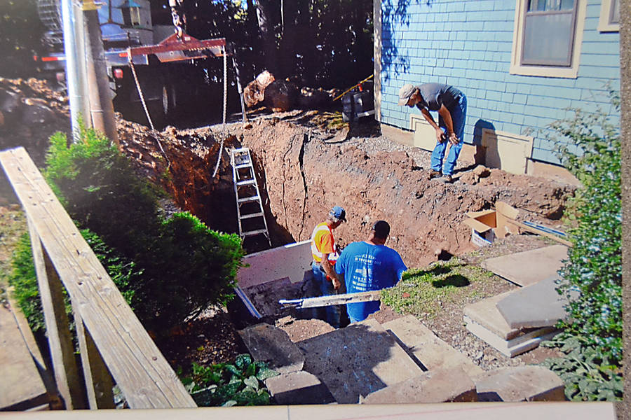 <p>CONTRIBUTED PHOTO</p><p>Installation of a new septic system at the Lees began August 31 and was to have been completed 10 days later. On October 9, the couple complained that their handicapped daughter-in-law would not be able to access the inside of their home on Thanksgiving because finishing touches on the job still had not been done.</p>