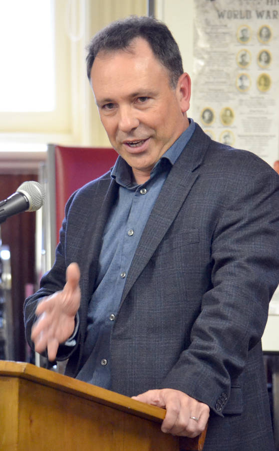 <p>KEITH CORCORAN, PHOTO</p><p>Paul Casey, Nova Scotia Power&#8217;s transmission, distribution and delivery vice president, addresses a recent Lunenburg town council meeting about recent weather and tree related electricity outages.</p>